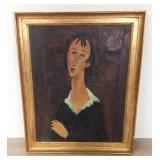 Oil on Canvas After Modigliani