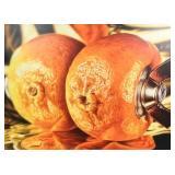 Bruce Evans Acrylic on Canvas Tangerine Squeeze