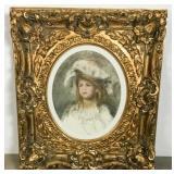 Renoir Print in Ornate Gilt Frame