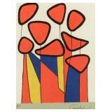 Alexander Calder Lithograph Squash Blossoms
