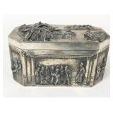 Sterling Box Depecting Religious Scenes