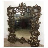 Rococo Style Metal Overlay Mirror