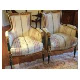 Pair of Neoclassical Side Chairs.