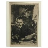 Anders Zorn Self Portrait Drypoint Etching