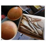 WOOD BOWLS AND SPOONS
