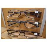 3-Pack Card Reader Glasses (3.00) Diopter
