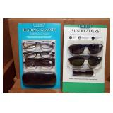 Sun Glass Readers. 2pk & Reading Glasses. 3pk