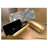 Gold Faux Alligator Skin Hard Shell Cases &