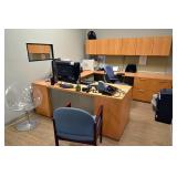Kimball Executive Office Suite w/ 3 Chairs