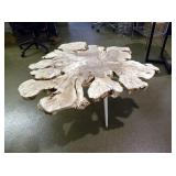 Wood Figural Free-Formed Coffee Table