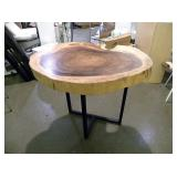 Wood Figural Free-Formed High Table