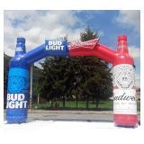 Bud Light/Budweiser Inflatable Goal Post