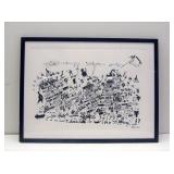 """Signed Lithograph by Bartus Bartolome (32""""x42"""")"""