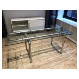 Glass Work Table W/ Chrome Frame