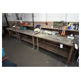 """(3) Steel Work Benches (72""""x34"""") w/ Contents"""