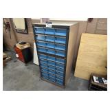 Wright Line 10-Drawer Organizer Cabinet w/Contents