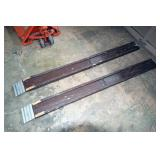 Pair of Foldable Wooden Ramps