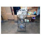 (1) Portable Warehouse Fans and (1) Floor Fan