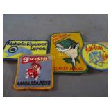 NOS VINTAGE FISHING PATCHES