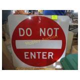 DO NOR ENTER SIGN