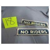 NO RIDERS STICKERS