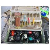 TACKLE BOX WITH REELS