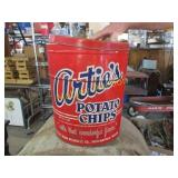 POTATO CHIP CAN FROM INDY