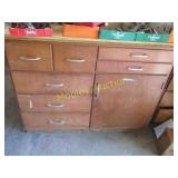PLYWOOD TOPS, SOME DRAWERS HAVE MISC ITEMS