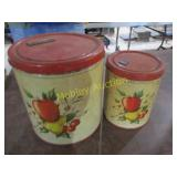 APPLE DECOR CONTAINERS