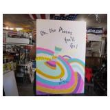 OH THE PLACES YOU WILL GO POSTER HAND PAINTED