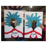 THING 1&2 HAND PAINTED POSTER