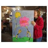 LORAX HAND PAINTED POSTER