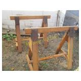 WOODEN SAW HORSES