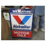 DOUBLE SIDED METAL SIGN-MOTOR OILS