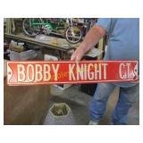 BOBBY KNIGHT HEAVY METAL SIGN