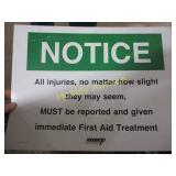NOS CARDSTOCK NOTICE SIGN