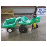 LITTLE TIKES PULL AROUND TRACTOR AND WAGON PLASTIC