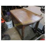 ANTIQUE OAK WOODEN TABLE WITH 2 DROP LEAFS