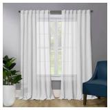 "Benton 52 x 95"" Sheer Window Curtin - 2 Pks"
