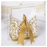 Gold Gift Boxes for Candy Favours