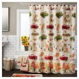 Harvest Delivery Shower Curtain & Hook Set