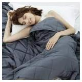 Weighted Idea 15LB Queen Weighted Blanket Grey