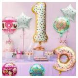 BeYumi - 9pcs Donuts 1st Balloons