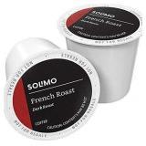 Solimo French Roast Dark Roast-100 Single Serving