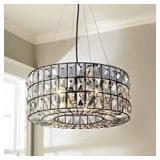 Saint Mossi Crystal Hanging Lamp - 20 in