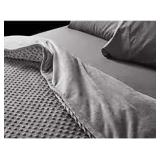 YEMYHOM Weighted Blanket +Gray Minky Cover x2