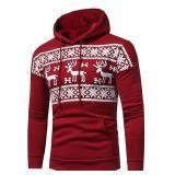 Red Christmas Hoodie - Reindeers