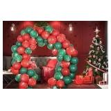 Christmas Balloon Set with Arch - 100 Balloons