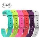 6 Pack Multi Coloured Wrist Bands FitBit