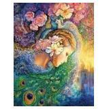 Josephine Wall Glitter Puzzle - Peacock Daze